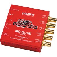MD-QUAD 3G/HD/SD-SDI Quad Split Multi-Viewer with SD/HD/3G-SDI & HDMI Out.